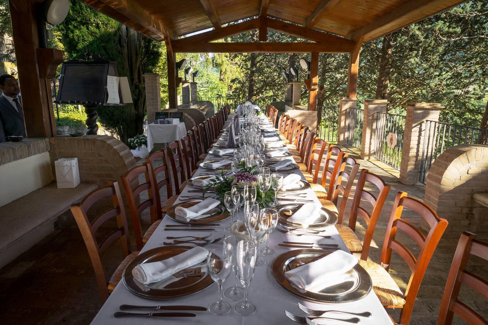 Giardino e terrazza - Villamena Resort Assisi